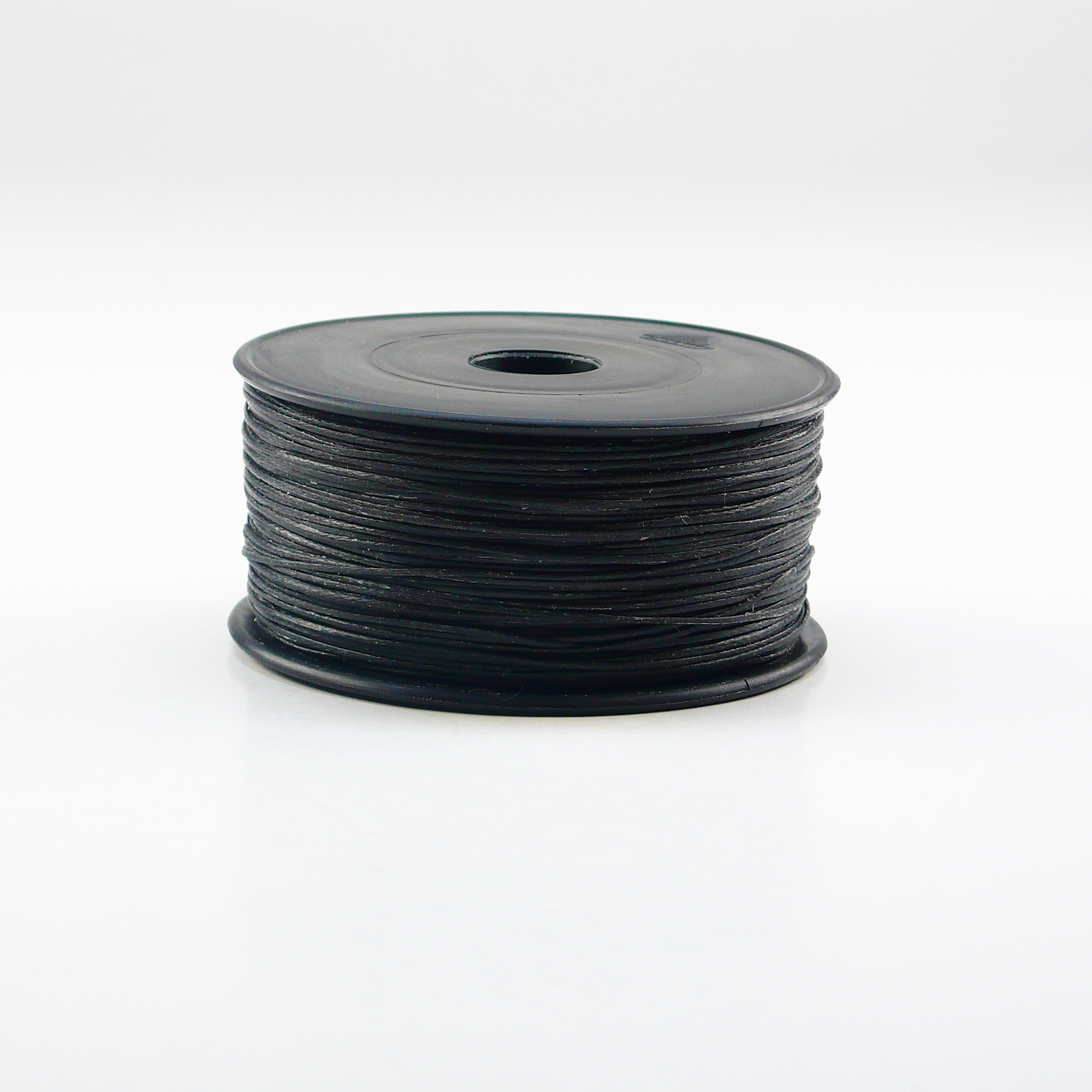 Hand sewing braided and waxed Nylon thread Neverstrand MADE IN SWITZERLAND, Nr. 5 spool à 50 g, 130 m appprox, Black